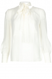 ELISABETTA FRANCHI |  Blouse with bow Sorella | White  | Picture 1