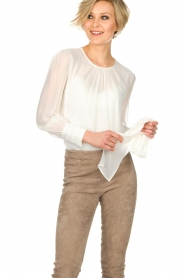ELISABETTA FRANCHI |  Blouse with bow Sorella | White  | Picture 6
