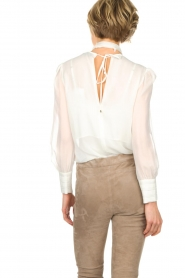 ELISABETTA FRANCHI |  Blouse with bow Sorella | White  | Picture 5