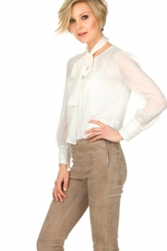 ELISABETTA FRANCHI |  Blouse with bow Sorella | White  | Picture 4