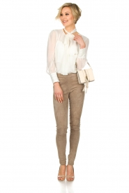 ELISABETTA FRANCHI |  Blouse with bow Sorella | White  | Picture 3