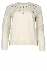 Patrizia Pepe |  Sweater with studs Clay | naturel  | Picture 1