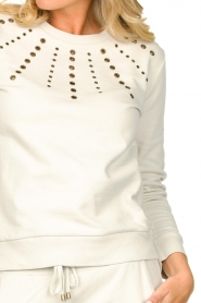 Patrizia Pepe |  Sweater with studs Clay | naturel  | Picture 7