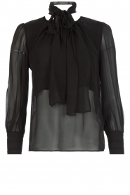 ELISABETTA FRANCHI |  Blouse with bow Sorella | Black  | Picture 1