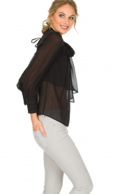 ELISABETTA FRANCHI |  Blouse with bow Sorella | Black  | Picture 4