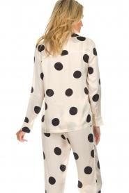 Love Stories    Satin polkadot pyjama blouse Blue Moon   white    Picture 6