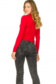 Patrizia Pepe |  Sweater with button details Towy | red  | Picture 5