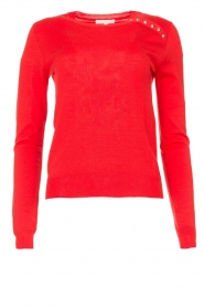 Patrizia Pepe |  Sweater with button details Towy | red  | Picture 1
