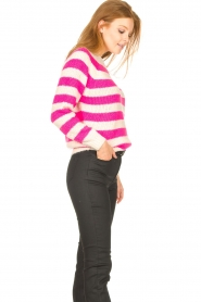 Lolly's Laundry |  Knitted sweater Jobel | pink  | Picture 6