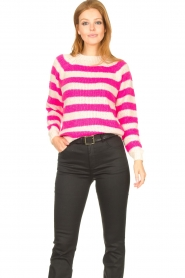 Lolly's Laundry |  Knitted sweater Jobel | pink  | Picture 2