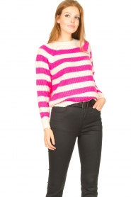 Lolly's Laundry |  Knitted sweater Jobel | pink  | Picture 4