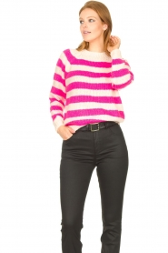 Lolly's Laundry |  Knitted sweater Jobel | pink  | Picture 5