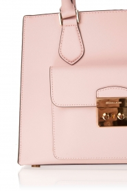 Leather tote bag Bridgette | old pink