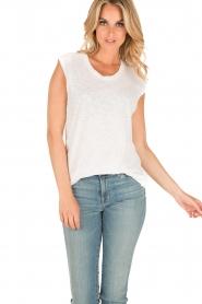 Zoe Karssen | Mouwloos shirt Adelaar  | wit Sleeveless shirt Eagle | white  | Afbeelding 2