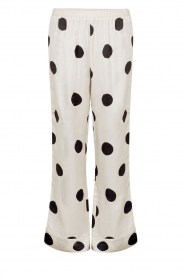 Love Stories |  Satin polkadot pyjama pants Billy | white  | Picture 1