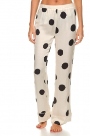 Love Stories |  Satin polkadot pyjama pants Billy | white  | Picture 2