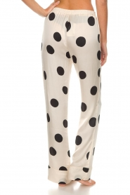 Love Stories |  Satin polkadot pyjama pants Billy | white  | Picture 5