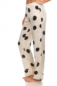 Love Stories |  Satin polkadot pyjama pants Billy | white  | Picture 4