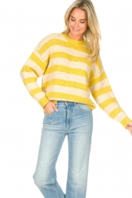 Lolly's Laundry |  Knitted sweater Terry | yellow  | Picture 5