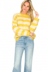 Lolly's Laundry |  Knitted sweater Terry | yellow  | Picture 4
