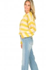 Lolly's Laundry |  Knitted sweater Terry | yellow  | Picture 6