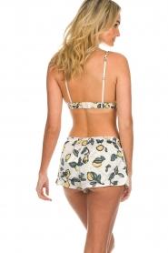 Love Stories |  Printed satin pyjama shorts Audrey Lemon | white  | Picture 5
