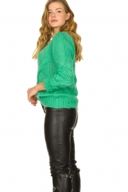 Patrizia Pepe |  Sweater with chain detail Colinda | green  | Picture 5