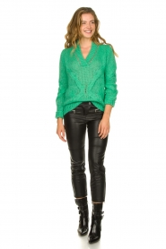Patrizia Pepe |  Sweater with chain detail Colinda | green  | Picture 3