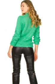 Patrizia Pepe |  Sweater with chain detail Colinda | green  | Picture 6