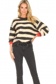 Lolly's Laundry |  Knitted sweater Terry | black  | Picture 2