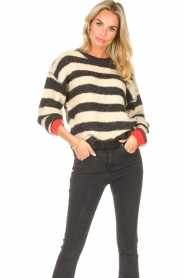 Lolly's Laundry |  Knitted sweater Terry | black  | Picture 4