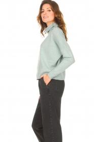 Knit-ted |  Merino turtle neck sweater Lois | blue  | Picture 6
