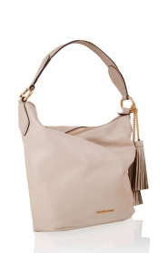 Leather shoulder bag Elana | sand