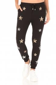 Zoe Karssen | Sweatpants Sequin Stars | zwart  | Afbeelding 2