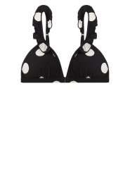 Love Stories |  Polkadot triangle bikini Emmy | black  | Picture 1