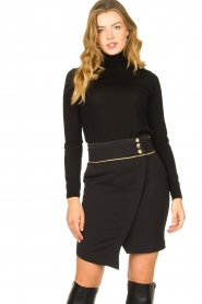 Patrizia Pepe |  Turtleneck sweater Sebastiana | black  | Picture 2