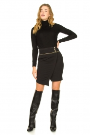 Patrizia Pepe |  Turtleneck sweater Sebastiana | black  | Picture 3