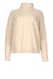 Knit-ted |  Merino turtle neck sweater Lois | beige  | Picture 1