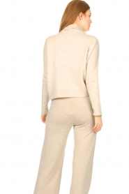 Knit-ted |  Merino turtle neck sweater Lois | beige  | Picture 6