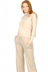 Knit-ted |  Merino turtle neck sweater Lois | beige  | Picture 2