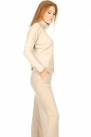 Knit-ted |  Merino turtle neck sweater Lois | beige  | Picture 5