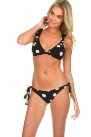 Love Stories |  Polkadot bikini briefs Zoey | black  | Picture 2