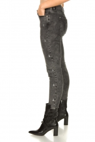 Patrizia Pepe |  Skinny jeans with logo embroideries Ray | grey  | Picture 5