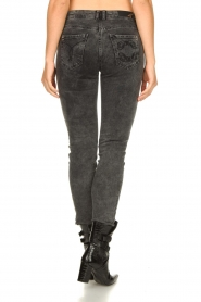 Patrizia Pepe |  Skinny jeans with logo embroideries Ray | grey  | Picture 6