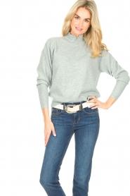 Knit-ted |  Merino sweater Mia | blue  | Picture 4