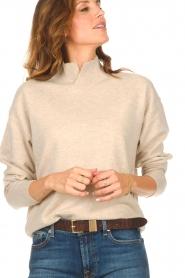 Knit-ted | Merino trui Mia | beige  | Afbeelding 8