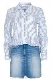 ELISABETTA FRANCHI | Set van rok en blouse Cira | blauw  | Afbeelding 1