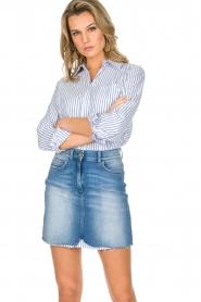 ELISABETTA FRANCHI | Set van rok en blouse Cira | blauw  | Afbeelding 2