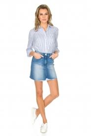 ELISABETTA FRANCHI | Set van rok en blouse Cira | blauw  | Afbeelding 3