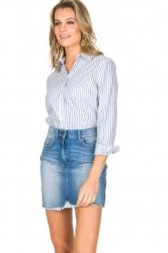 ELISABETTA FRANCHI | Set van rok en blouse Cira | blauw  | Afbeelding 4